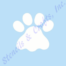 "3 1/2"" PAW STENCIL PAWS ANIMAL PRINTS STENCILS TEMPLATE TEMPLATES CRAFT NEW #1"