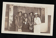 Antique Vintage Photograph Young Boy With Women Wearing Cool Outfits