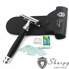 Sharpy Professional Double Edge Safety Razor Black Pro R-32 + Free Blades