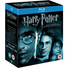 Harry Potter Complete 8 Film Blu-Ray Collection Box Set USED READ DESCRIPTION