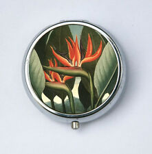 Birds of Paradise Flower Pill Case pillbox holder botanical
