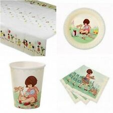 Talking Tables Belle & Boo Birthday Party Set for 8 Cups Plates Napkins Cover