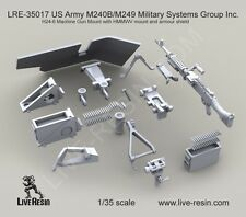 Live Resin 1:35 M240B H24-6 Mount for HMMWV & Armor Shield - Resin  #LRE35017