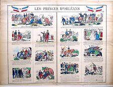 Imagerie populaire d'Epinal de Pellerin, Les Princes d'Orléans, 1873-80
