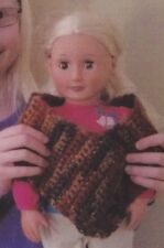 "Crochet Pattern ~ SHAWL FOR 18"" KIDS DOLL ~ Instructions"