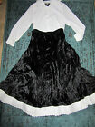 VICTORIAN Edwardian Titanic Music Man School Marm top/black skirt costume 14