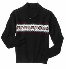 NWT Mens Gymboree Holiday Very Merry Black sweater Size XL Christmas Dad