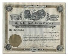 Antler Gold Mining Company Stock Certificate