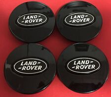 4pcs Land Rover Supercharged  Caps WHEEL HUB CENTER SET Cap Black GLOSSY