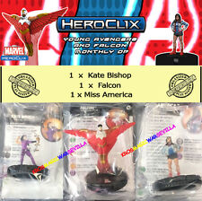 HEROCLIX MARVEL YOUNG AVENGERS & FALCON OP KIT Kate Bishop + Falcon + Ms.America