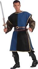 MENS MEDIEVAL RENAISSANCE BLACK & BLUE TABARD COSTUME ACCESSORY FM68560