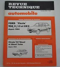 Revue technique automobile RTA 449 Ford fiesta 950 1.1 1.3 XR2 1984 -