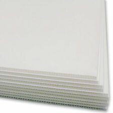 10 x White Corflute Sheets Boards Panels 600mm x 900mm x 3mm