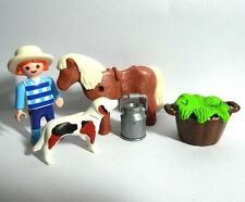 Playmobil Kid with Poney and  Dog and accessories