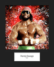 RANDY SAVAGE #1 (WWE) Signed 10x8 Mounted Photo Print - FREE DELIVERY