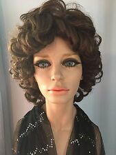 Vintage Lady Mannequin Head & Torso Real Looking Eyes, Hair Eyelashes, Makeup