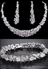 Wedding Bridal Necklace Earring Bracelet Jewellery Set parties,prom,occasionwear