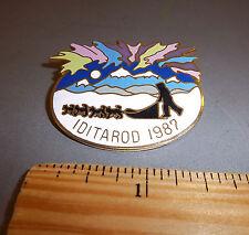 Alaska Iditarod dog sled race 1987 tie tac Large lapel Pin, 1000 tough miles