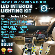 BMW E38 7 SERIES 95  SALOON LED INTERIOR COMPLETE FULL KIT SET BULB XENON WHITE