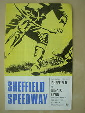 SHEFFIELD v KING'S LYNN LEAGUE K.O. CUP 1969 SPEEDWAY PROGRAMME