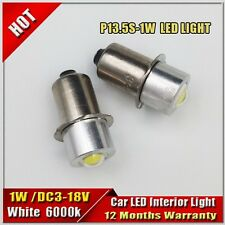2X 1W 3-18V P13.5S Led Flashlight Replacement bulb 6v12v18v Lantern Work Light