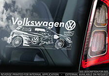 VOLKWAGEN WRC-Auto Adesivo-VW RALLY TEAM-Golf, Polo, Bora, GTI, DUB Performance