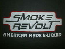 SMOKE REVOLT T SHIRT American Made E Liquid Vape Electronic Cigarette Store Ohio
