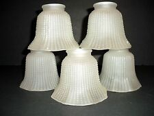 5-Octagon White frosted Glass Ceiling Fan Globe Light Shade Replacement