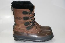 Sorel REI Big Horn Brown Caribou Wool Sherpa Lining Winter Snow Boots Women's 6