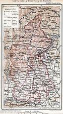 Provincia di Novara nel 1891: con Vercelli, Biella e Verbania. Carta Geografica