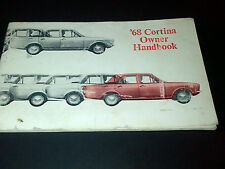 Ford Cortina 68 Owners Handbook Drivers Manual De Luxe Super GT Mark 2 II