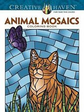 Animal Mosaics Color Coloring Book Ideal for Adults ~ Wiccan Pagan Supply