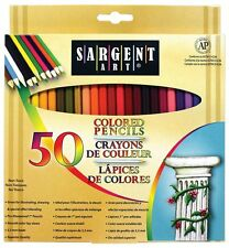 Sargent Art Premium Coloring Pencils, Pack of 50 Assorted Colors, [22-7251] AOI