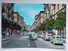 LA SPEZIA Corso Cavour FIAT 600 vecchia cartolina