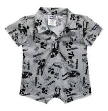 Oshkosh B'gosh Printed Collar Romper (Gray Football Mania) Size 12 months