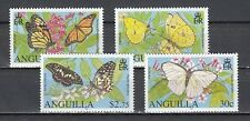 / Anguilla. Scott cat. 1151-1154. Butterflies issue.