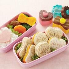 JAPANESE BENTO LUNCH accessories FOOD STAMP bread cutter SWEETS heart ribbon NWT