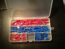 100 BULLET Insulated Terminal Crimp Connector Set Box - 50 RED 50 BLUE