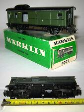 Märklin H0 HO MARKLIN art. 4003 CARROZZA PORTABAGAGLI Scorrevole DB Con box