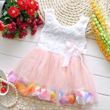 Infant Baby Girl Sleeveless Sundress Tulle Tutu Princess Short Mini Dress Skirt