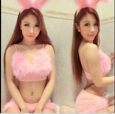 Sexy Bunny Rabbit Halloween Costume Fancy Dress Cosplay Lingerie+String+Hairpin
