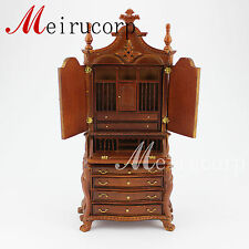 Dollhouse 1/12 scale miniature furniture Hand Carved  Study collection cabinet