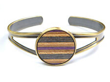 Skateboard Wood Cuff Bracelet Bangle Arm Hand Wooden Handmade Jewellery Womens