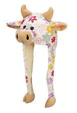 Tier Mütze Plüsch Mütze Kuh mit Blumenmuster
