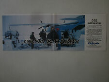 1991 PUB CASA C-212 AIR FREIGHTER SCOOTER DES NEIGES SNOWSCOOT ORIGINAL AD