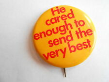 Cool Vintage He Card Enough to Send the Very Best Christian Religious Pinback
