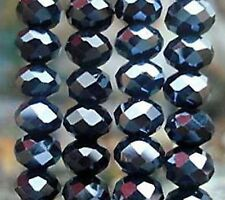 Free Shipping Crystal Loose Beads 148pcs 4mm Jewelry Making AB Black