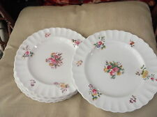 6 X ANTIQUE DINNER PLATES COPELAND SPODE HANDPAINTED ROSE BOUQUET C1025 TG GOODE