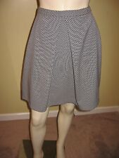 Anne Klein Navy Blue / White  Check A-line skirt Size 6