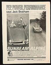 Vintage 1961 sport automobile magazine publicité lumineuse, sunbeam alpine, pep puissance performance